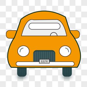 橙色的汽车图片