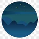 圆形山峰风景图片
