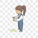 播种的女孩图片