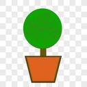 矢量盆栽图片