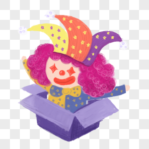 小丑玩具素材图片