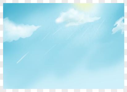 蓝天白云背景元素图片