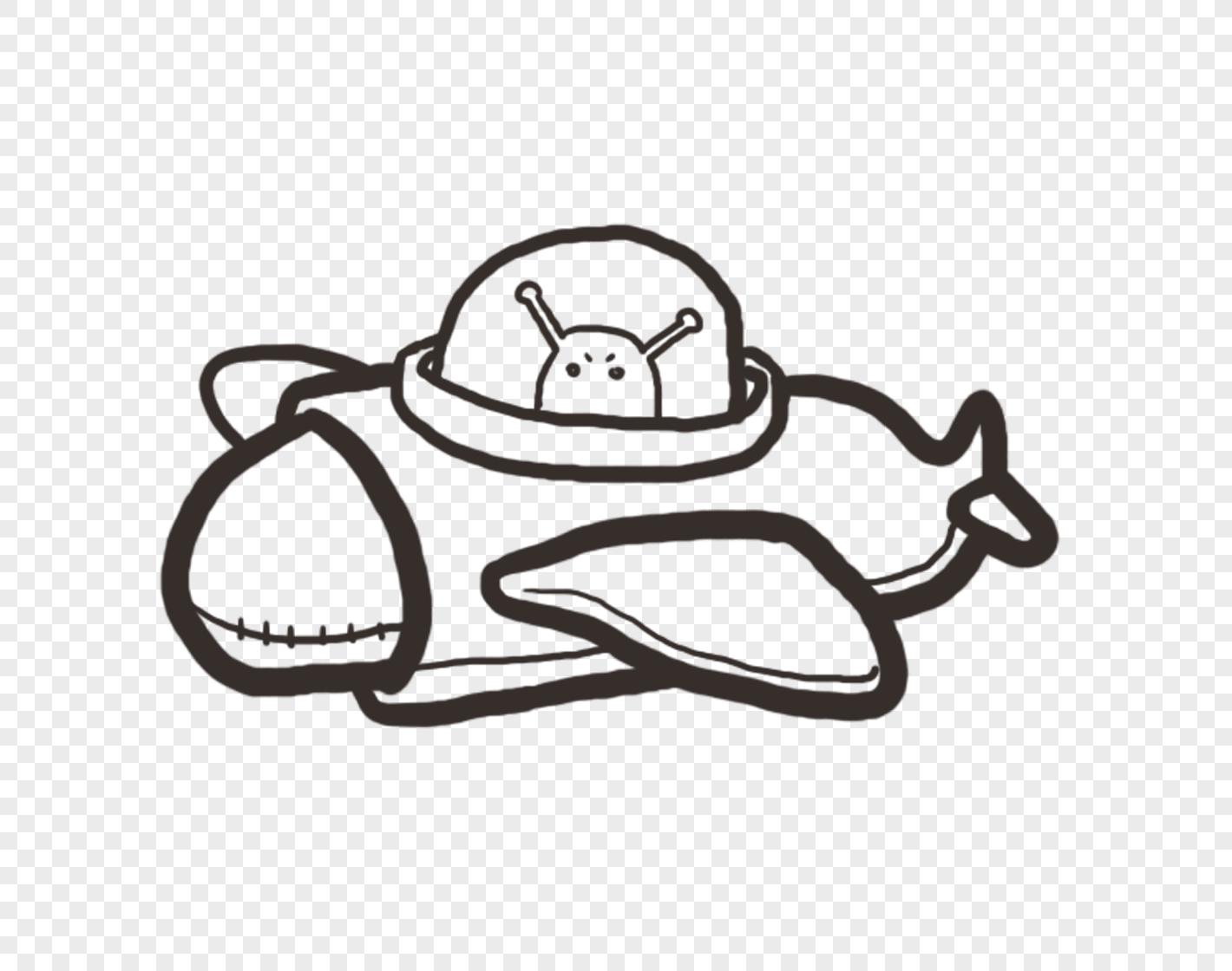 手绘飞机元素素材png格式_设计素材免费下载_vrf高清
