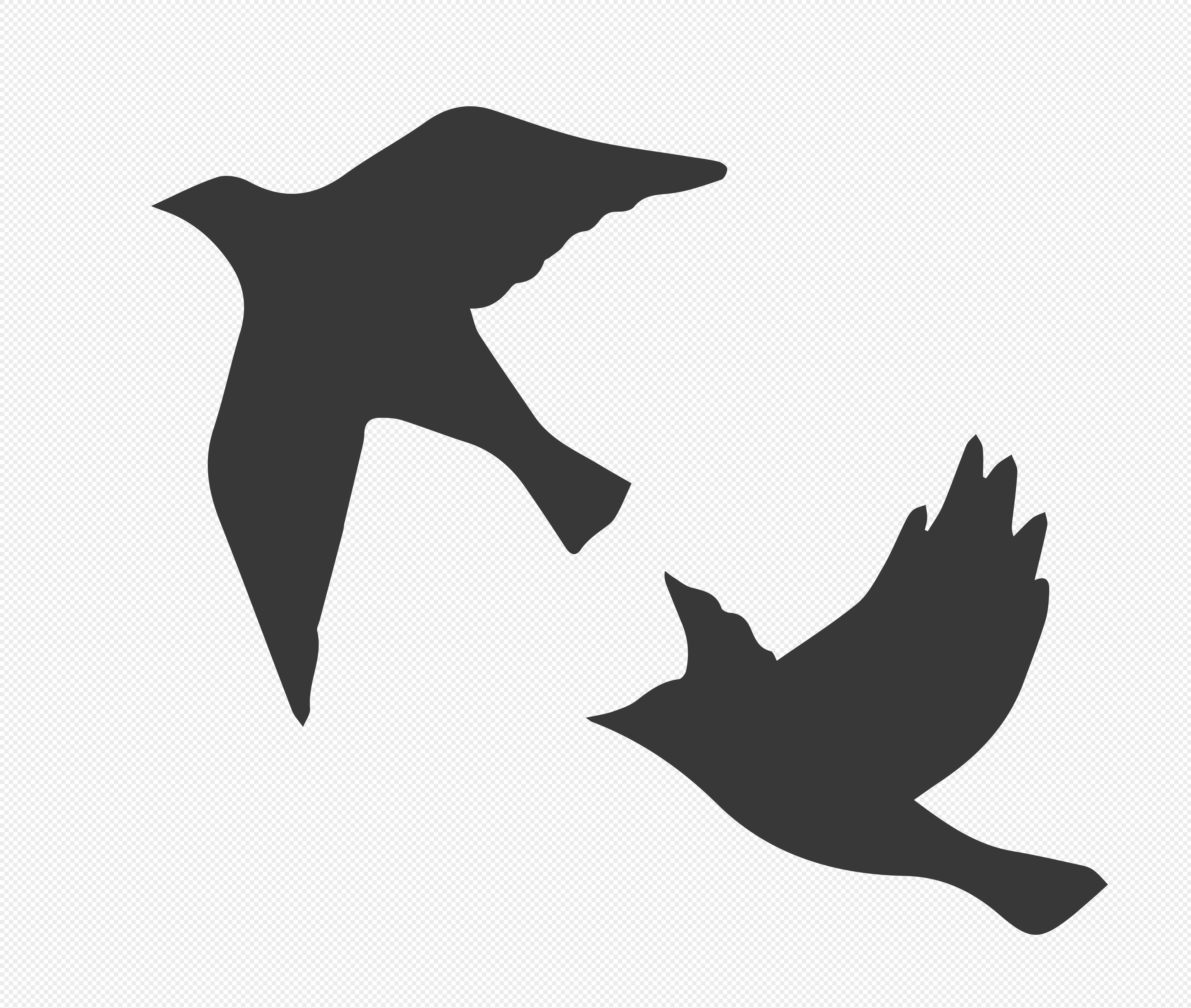 图片 素材 手绘/卡通元素 鸽子剪影.