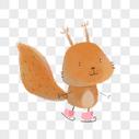 滑冰的松鼠图片