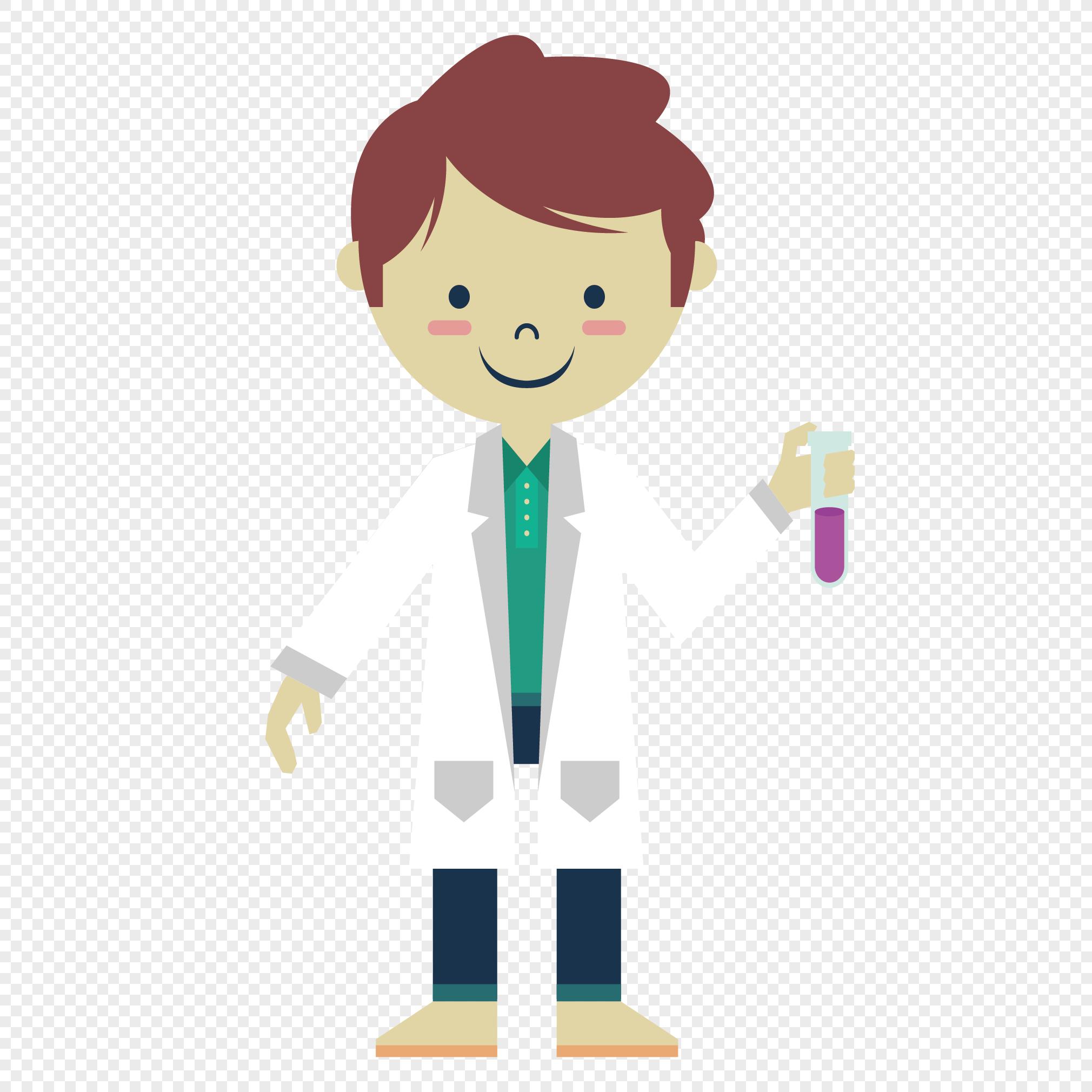图片 素材 手绘/卡通元素 生物科学家.