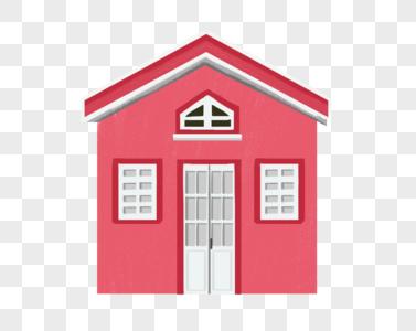 粉色房子图片