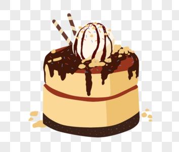 巧克力点心蛋糕图片