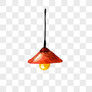 吊灯手绘素材