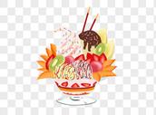 水果冰淇淋图片