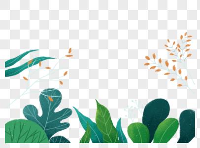 手绘清新植物元素图片