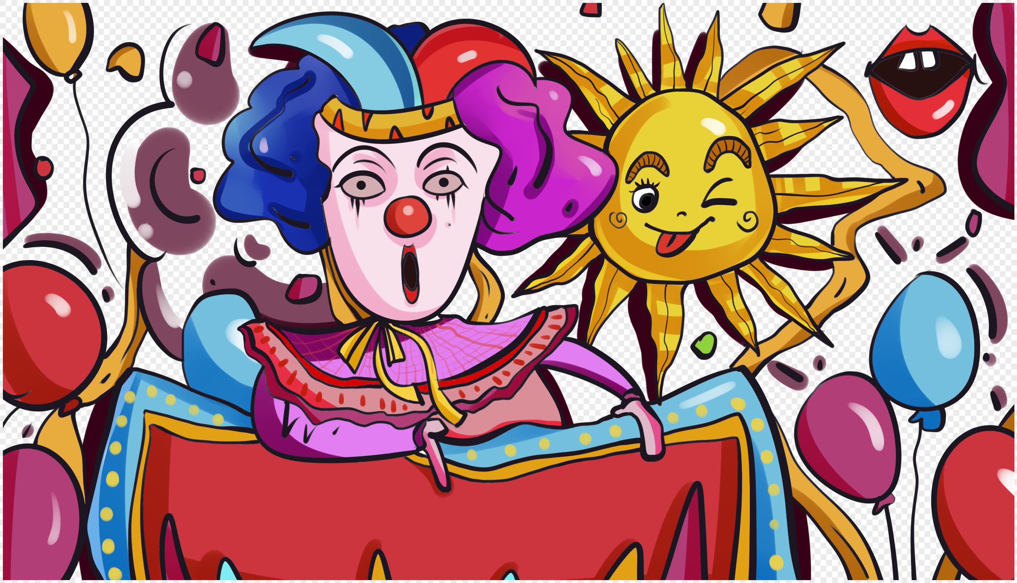 图片 素材 手绘/卡通元素 小丑.
