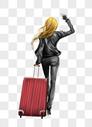 女人旅行背影图片