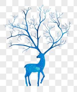 手绘欧式鹿图片
