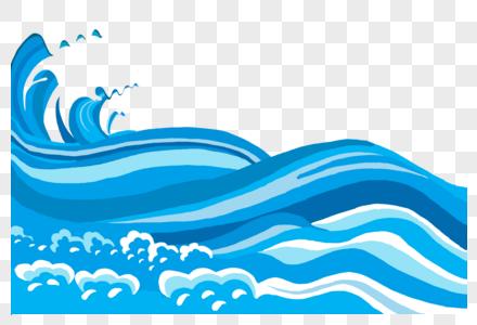 海浪浮世绘插画