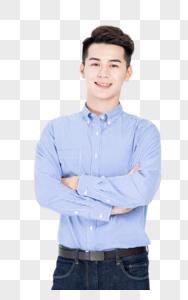 青春自信阳光商务男士形象展示图片
