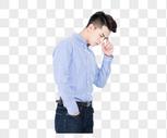 商务男士思考思索状态图片