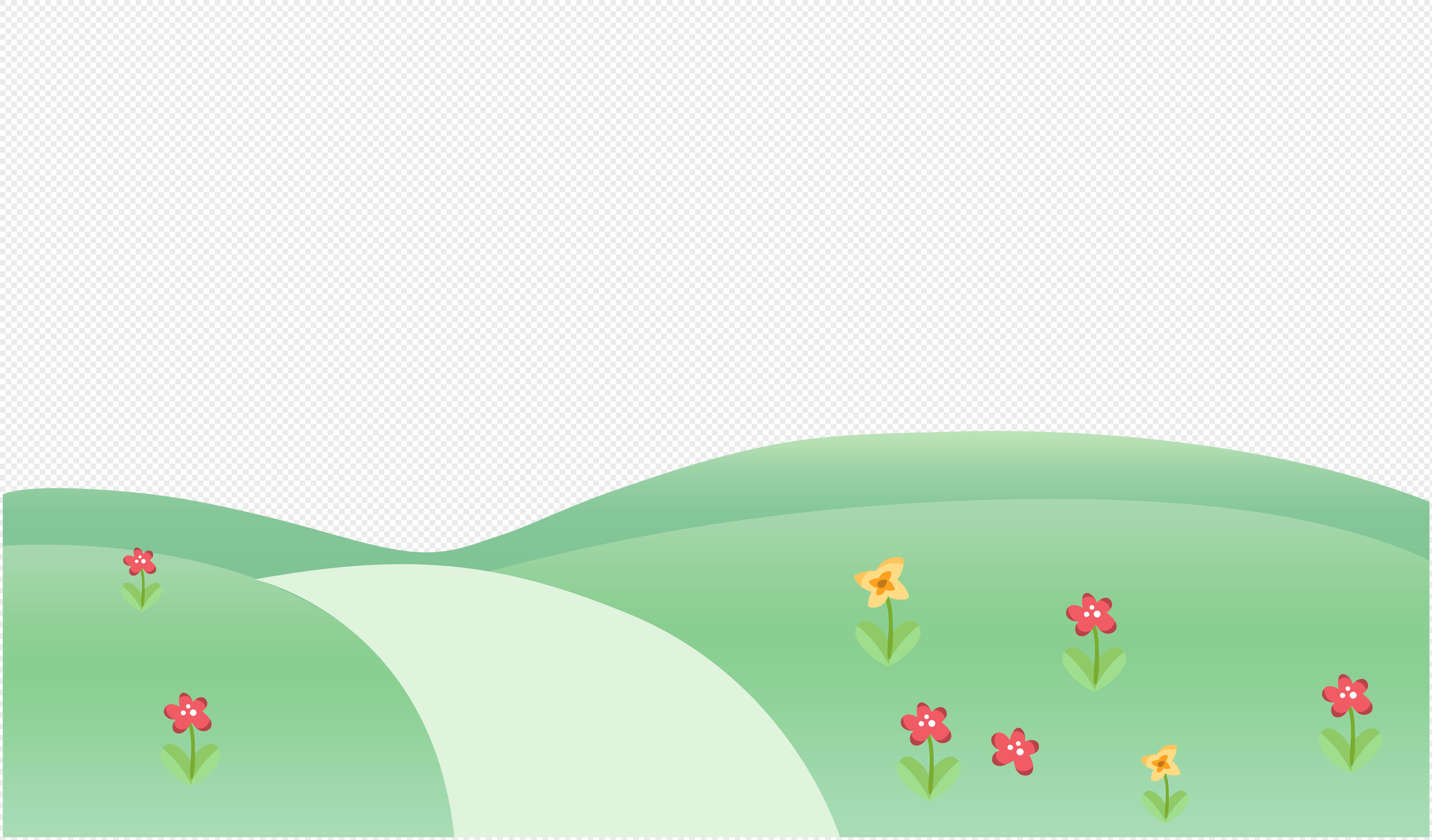 开花的草地
