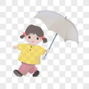 打伞的女孩图片