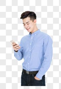 青年男性打电话交流沟通状态图片