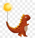抱着星星的小恐龙图片