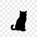 黑色猫咪剪影图片