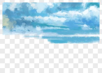 蓝色天空图片
