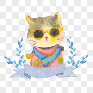 手绘猫咪高清图片