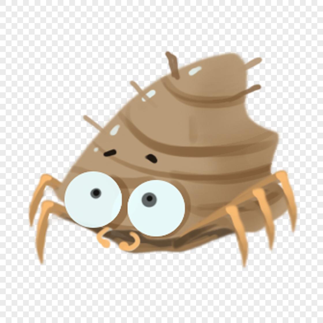 图片 素材 手绘/卡通元素 寄居蟹.
