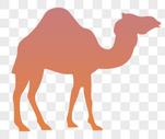 骆驼剪影图片