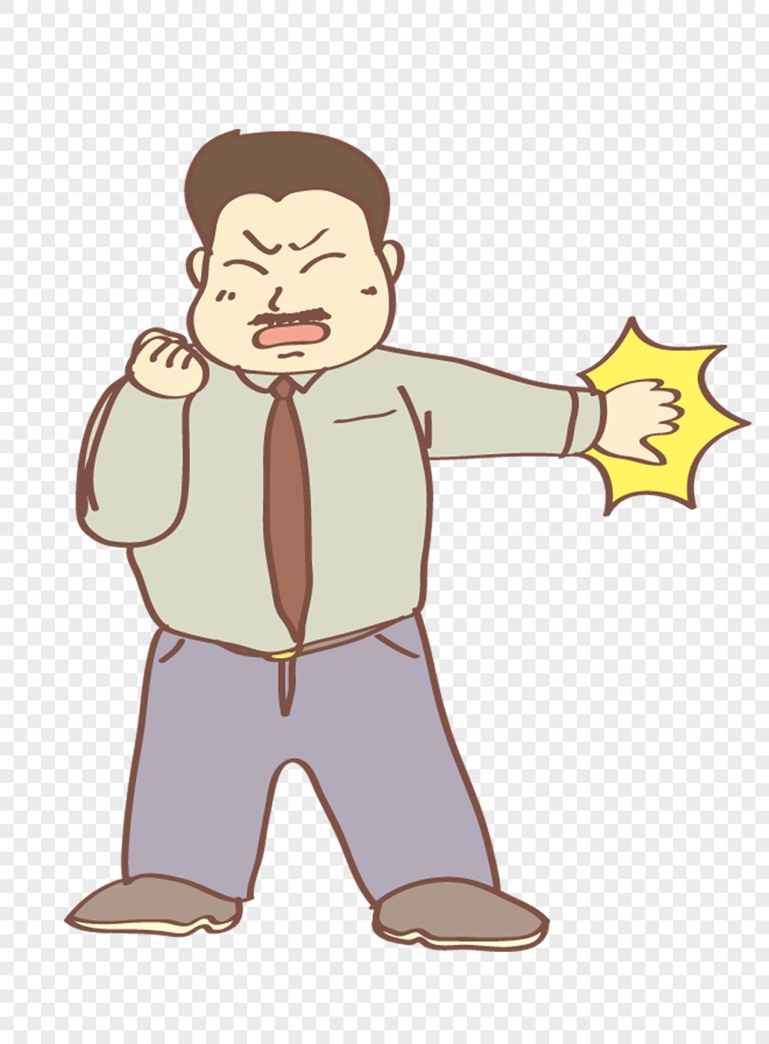 图片 素材 手绘/卡通元素 锻炼的中年男.