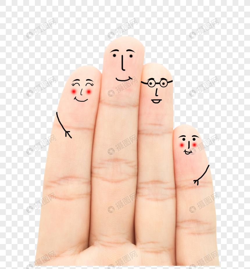 创意手指画手指表情多太表情包图片
