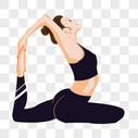 瑜伽女孩图片