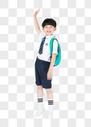 背着书包准备上学的小男生男孩图片