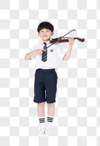 拉小提琴表演的小男孩图片