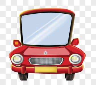 红色小汽车图片