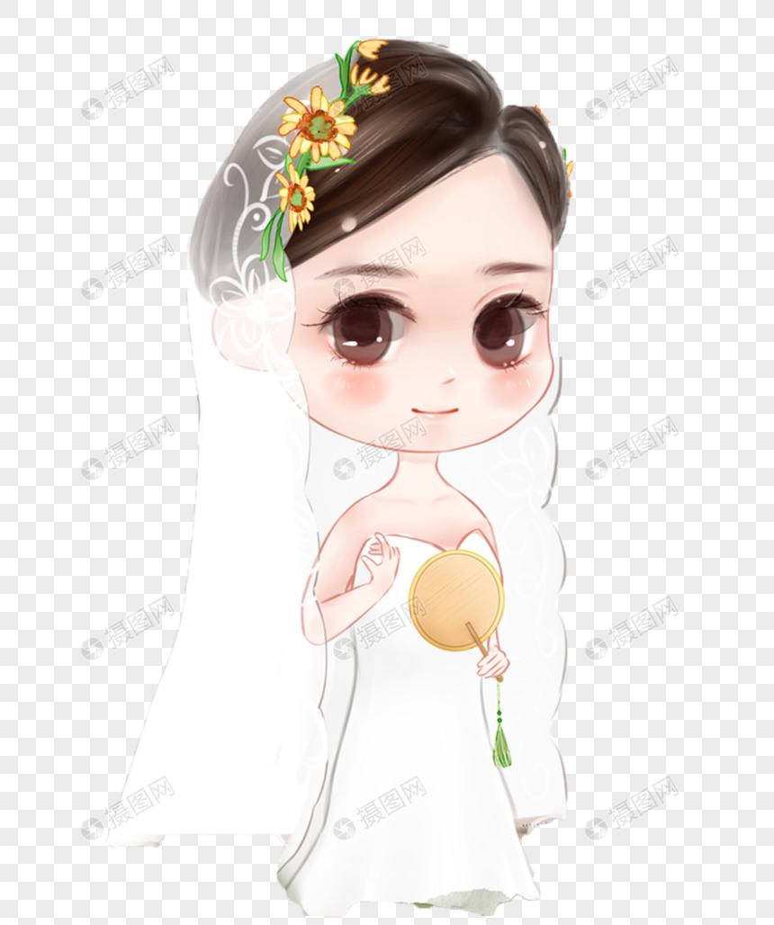 手绘女生格式元素婚纱PNG素材_设计素材免费少女时在家图片