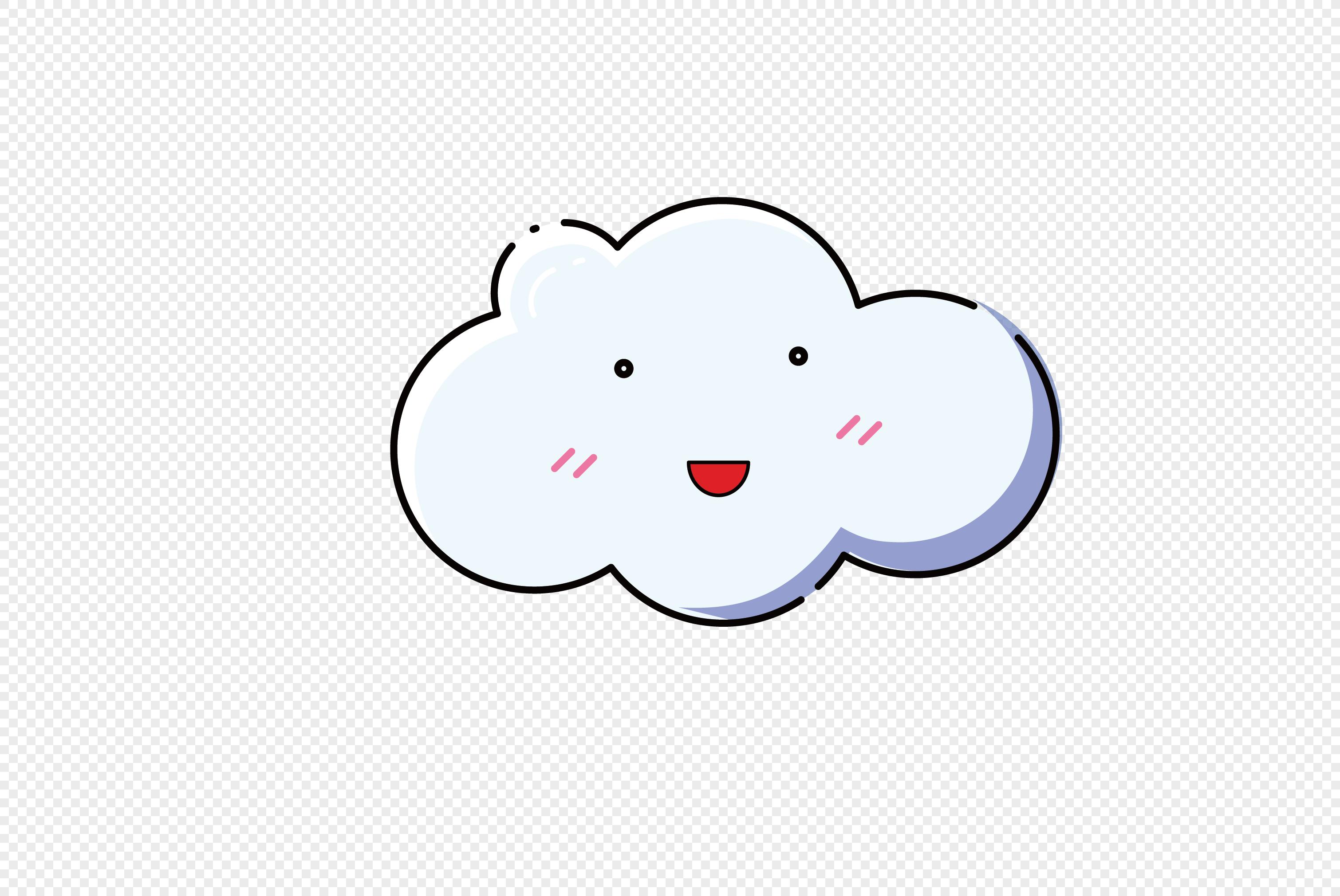 图片 素材 手绘/卡通元素 卡通白云.