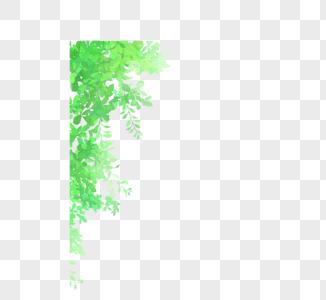 手绘绿叶高清图片