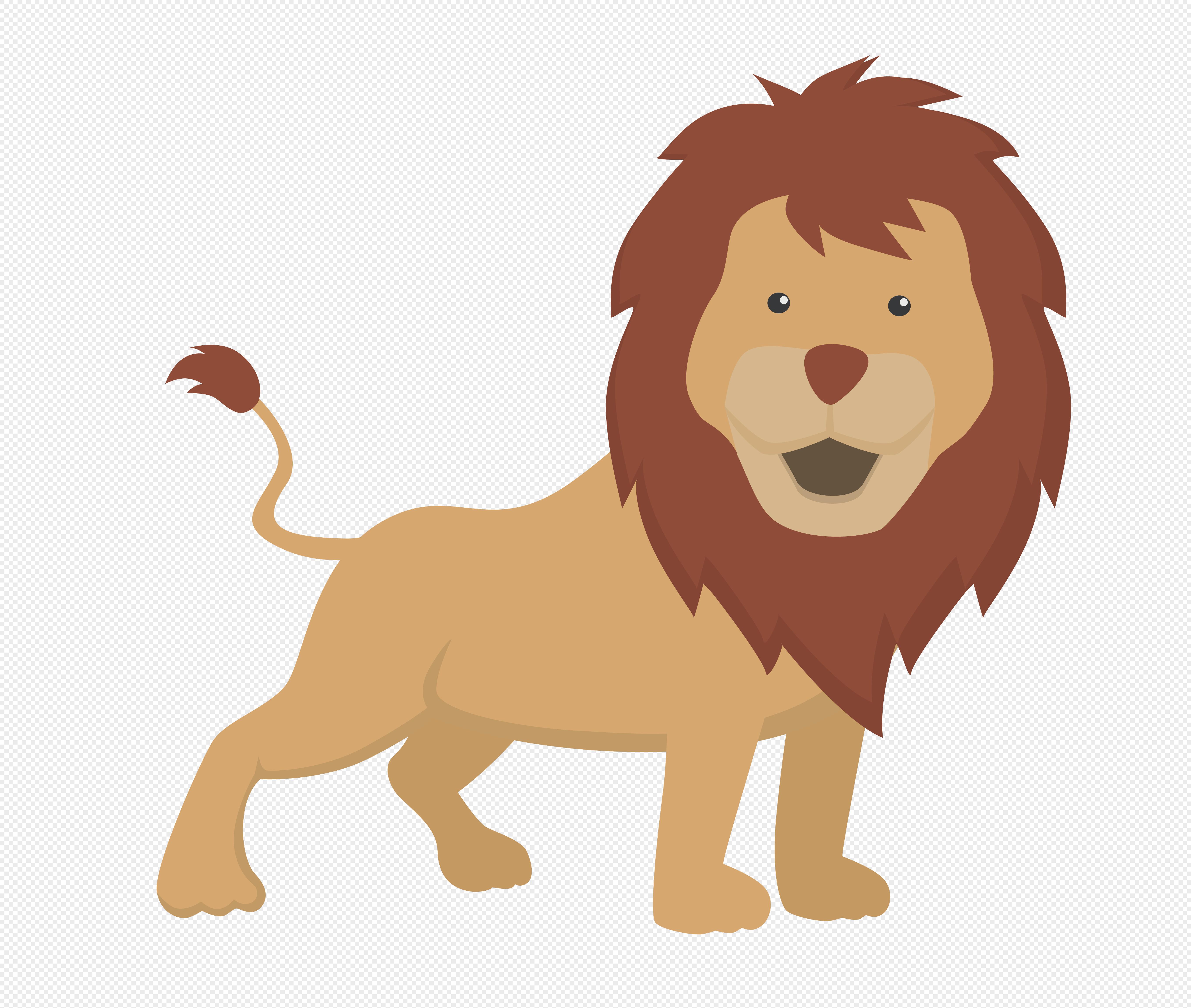 图片 素材 手绘/卡通元素 狮子.