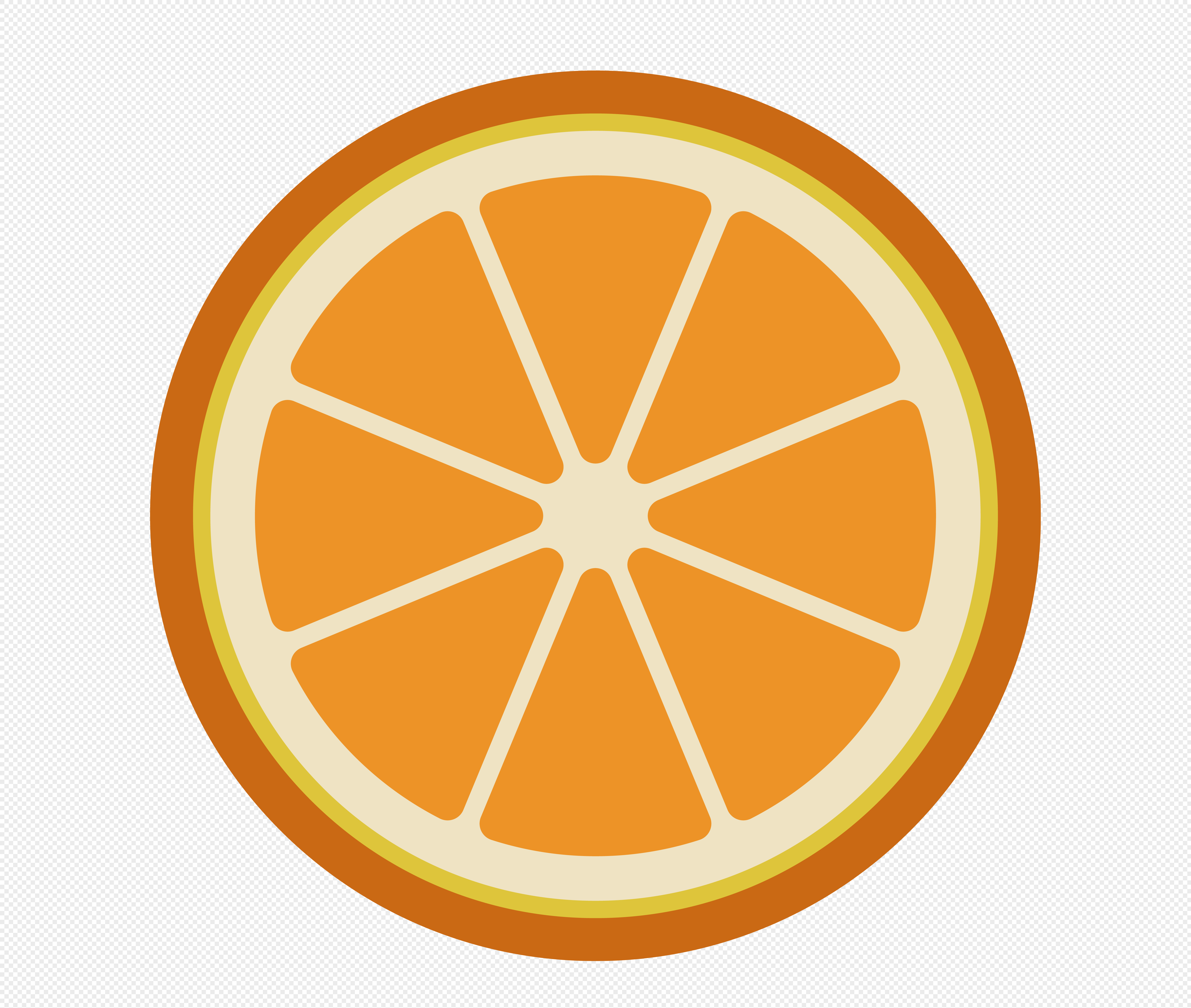 图片 素材 手绘/卡通元素 橙子片.