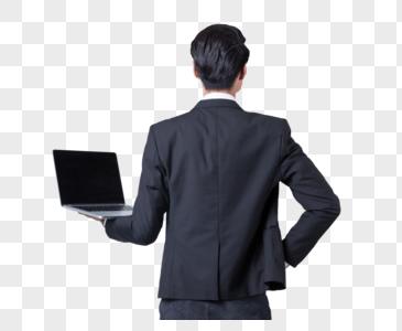 背对站着开会商务男士背影图片