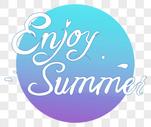 夏日字体设计图片