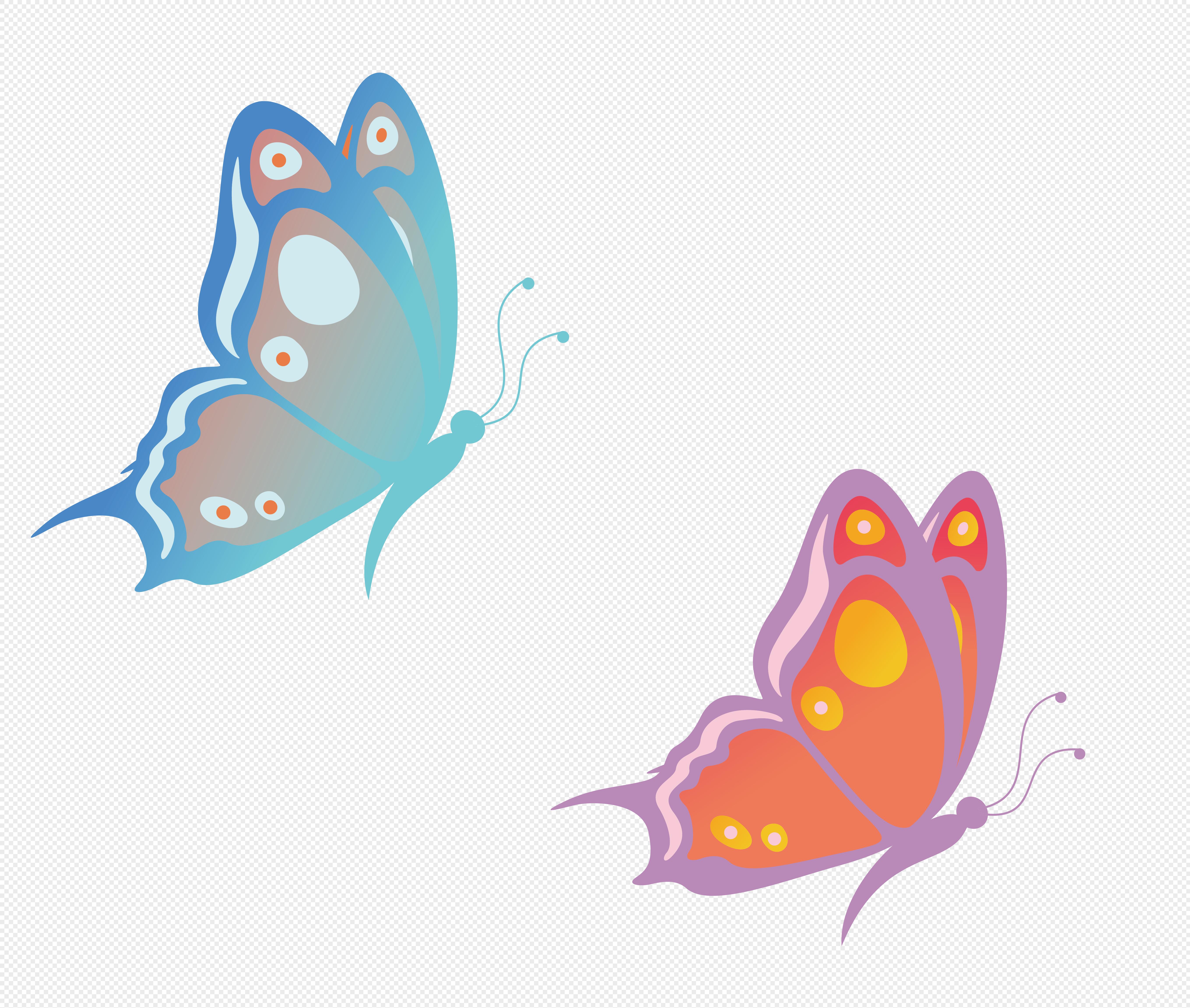图片 素材 手绘/卡通元素 蝴蝶.