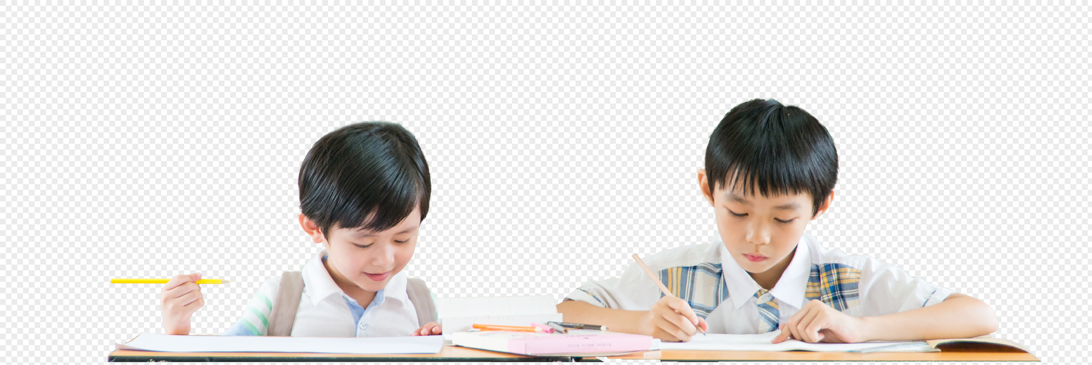 小学生上课学习