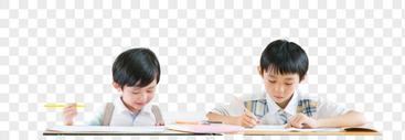 小学生上课学习图片