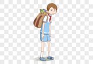 背书包的小学生图片