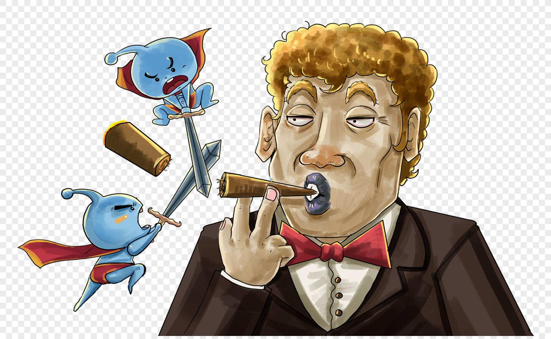 图片 素材 手绘/卡通元素 戒烟.