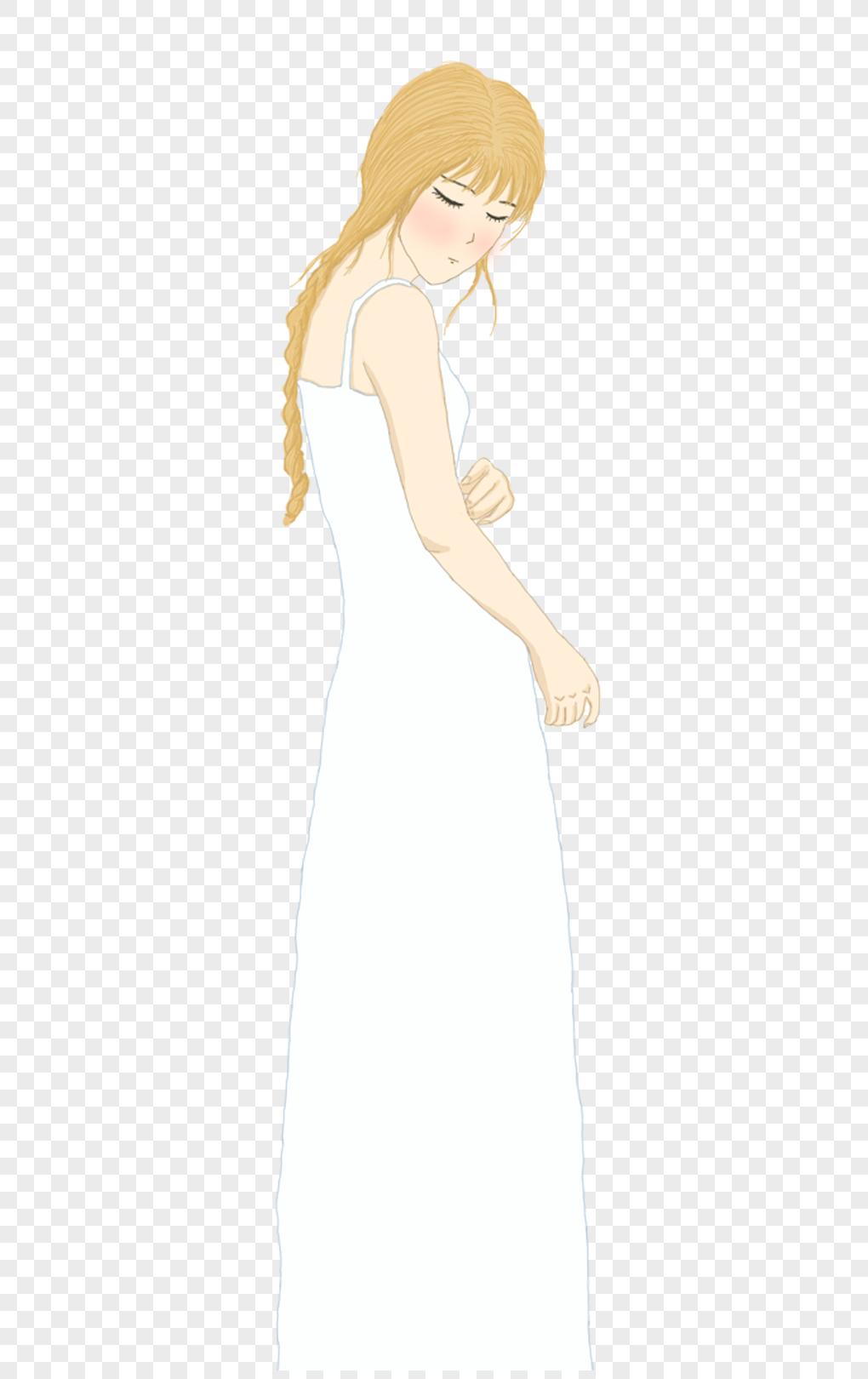 花瓣裙子手绘图片素材