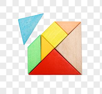 彩色七巧板元素图片